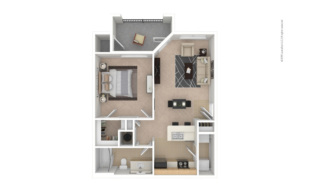 Aster 1 bedroom 1 bath 701 square feet