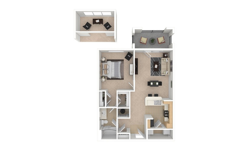 Balsam 1 bedroom 1 bath 750 square feet