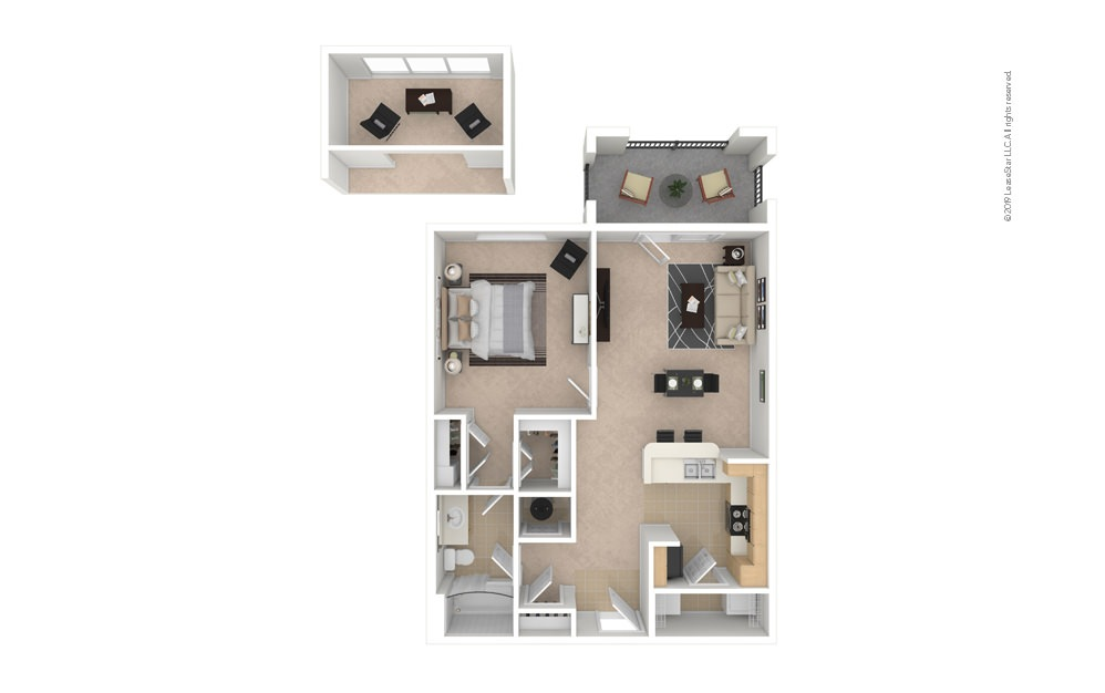 Balsam 1 bedroom 1 bath 750 square feet