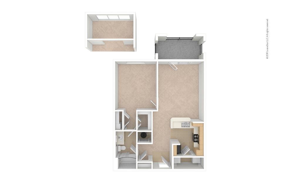Balsam 1 bedroom 1 bath 750 square feet (1)