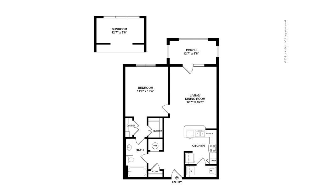 Balsam 1 bedroom 1 bath 750 square feet (2)