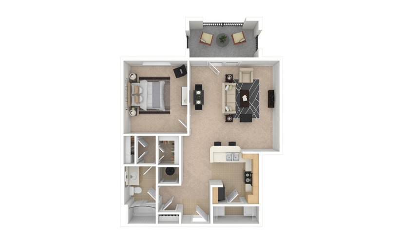 Carnation 1 bedroom 1 bath 818 square feet