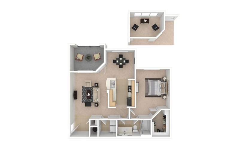 Daffodil 1 bedroom 1 bath 855 square feet
