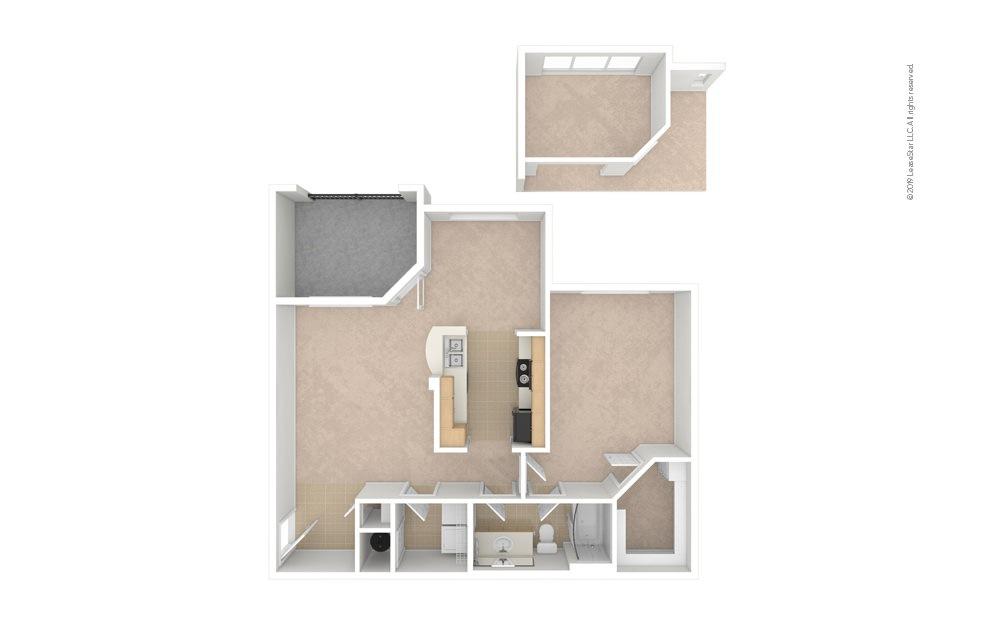 Daffodil 1 bedroom 1 bath 855 square feet (1)