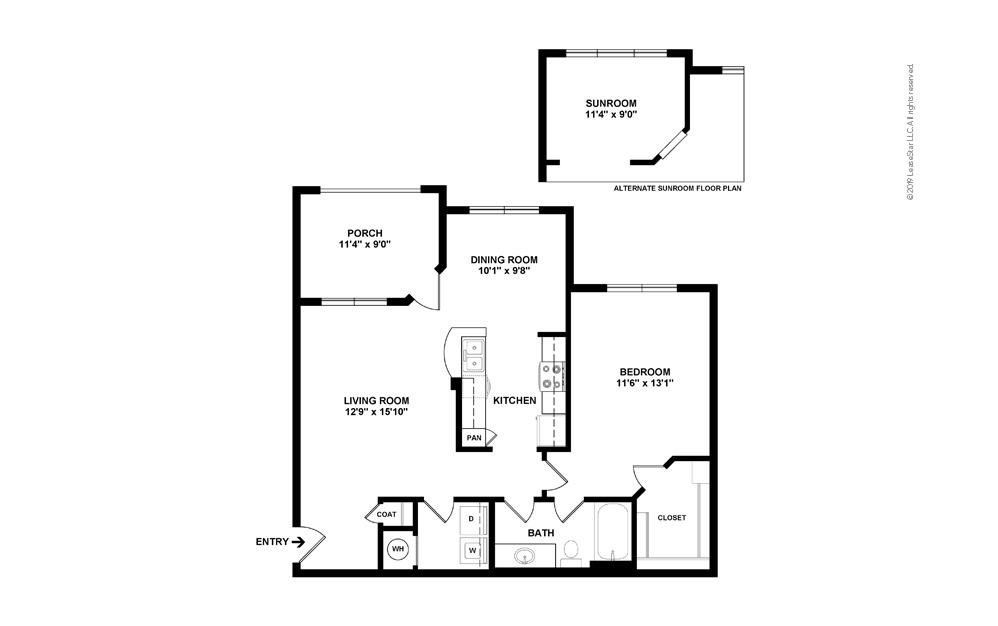 Daffodil 1 bedroom 1 bath 855 square feet (2)