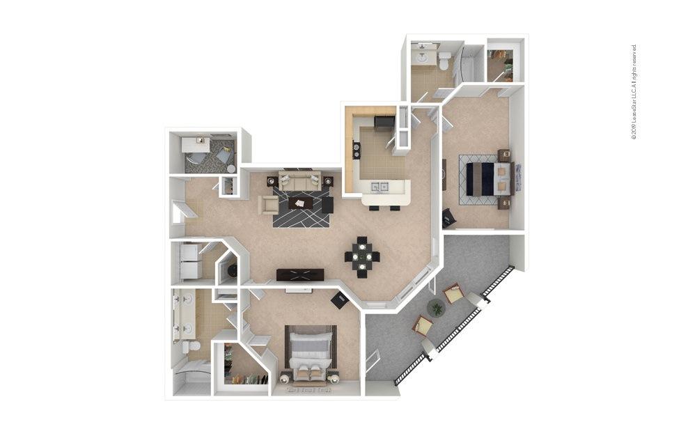 Rose 2 bedroom 2 bath 1426 square feet