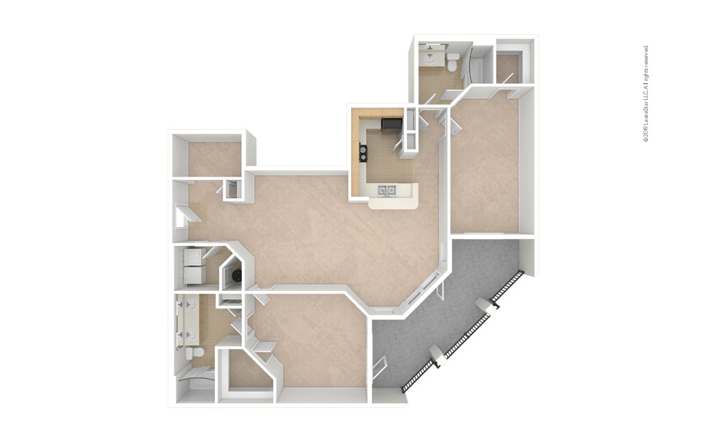 Rose 2 bedroom 2 bath 1426 square feet (1)