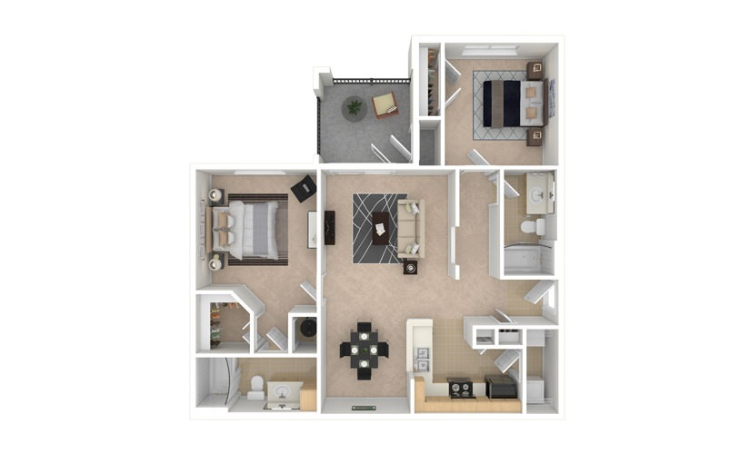 Heliotroph 2 bedroom 2 bath 1073 square feet