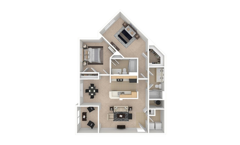 Iris 2 bedroom 2 bath 1202 square feet