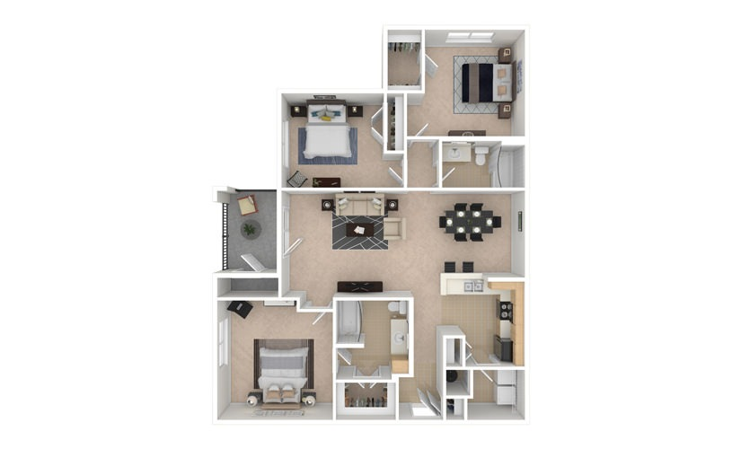 Tulip 3 bedroom 2 bath 1355 square feet