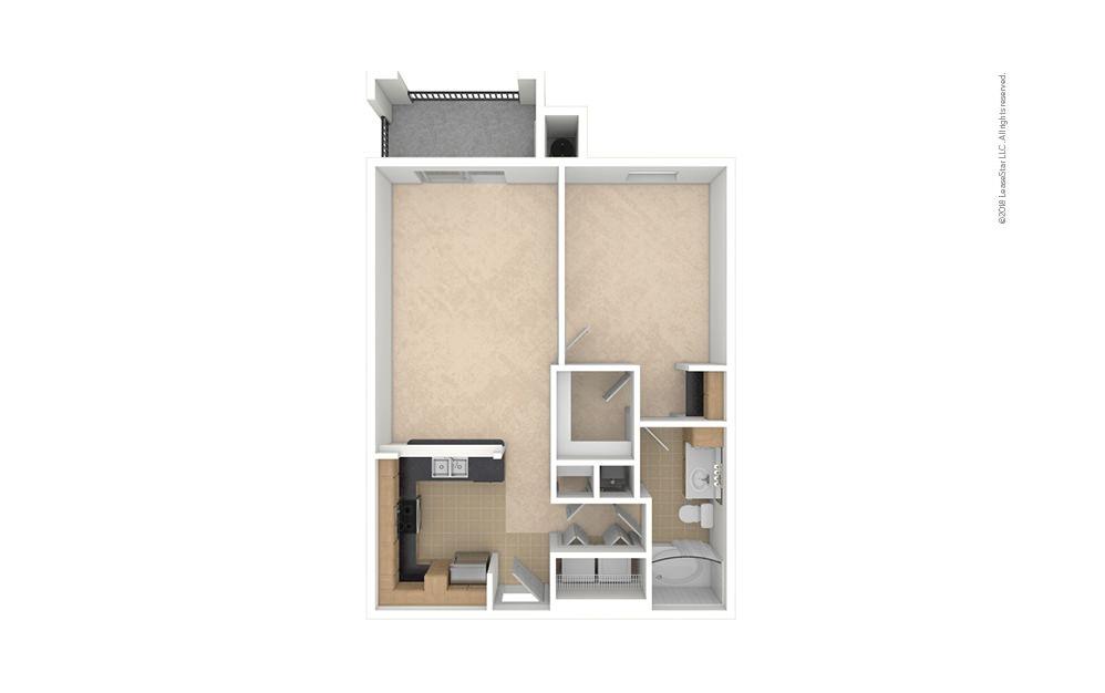 A2 1 bedroom 1 bath 700 square feet (1)