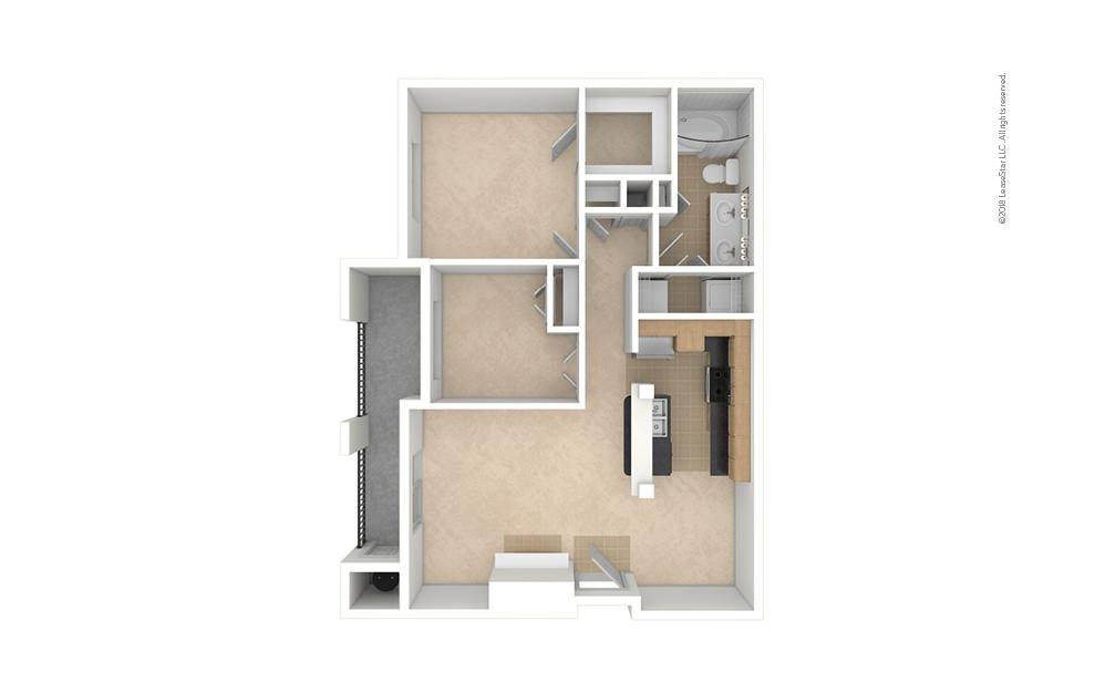 B1 2 bedroom 1 bath 910 square feet (1)