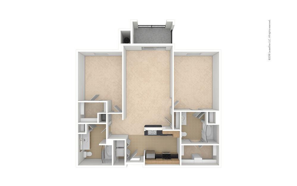 B2 2 bedroom 2 bath 1055 square feet (1)