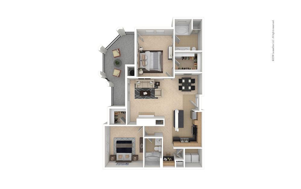 B4 2 bedroom 2 bath 1212 square feet