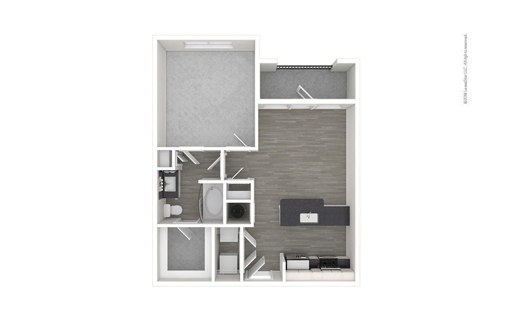 A1 1 bedroom 1 bath 661 square feet (1)