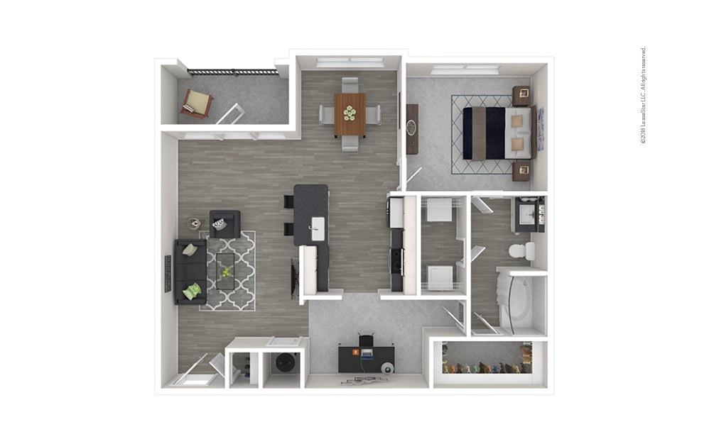 A6 1 bedroom 1 bath 984 square feet