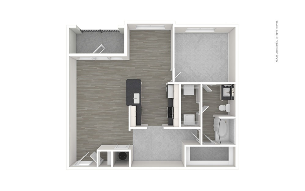 A6 1 bedroom 1 bath 984 square feet (1)