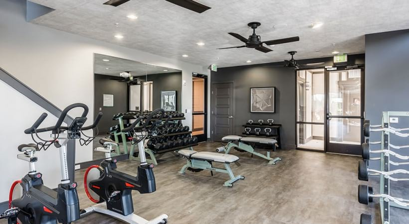 Fitness center at Cortland Vera Sanford luxury apartments