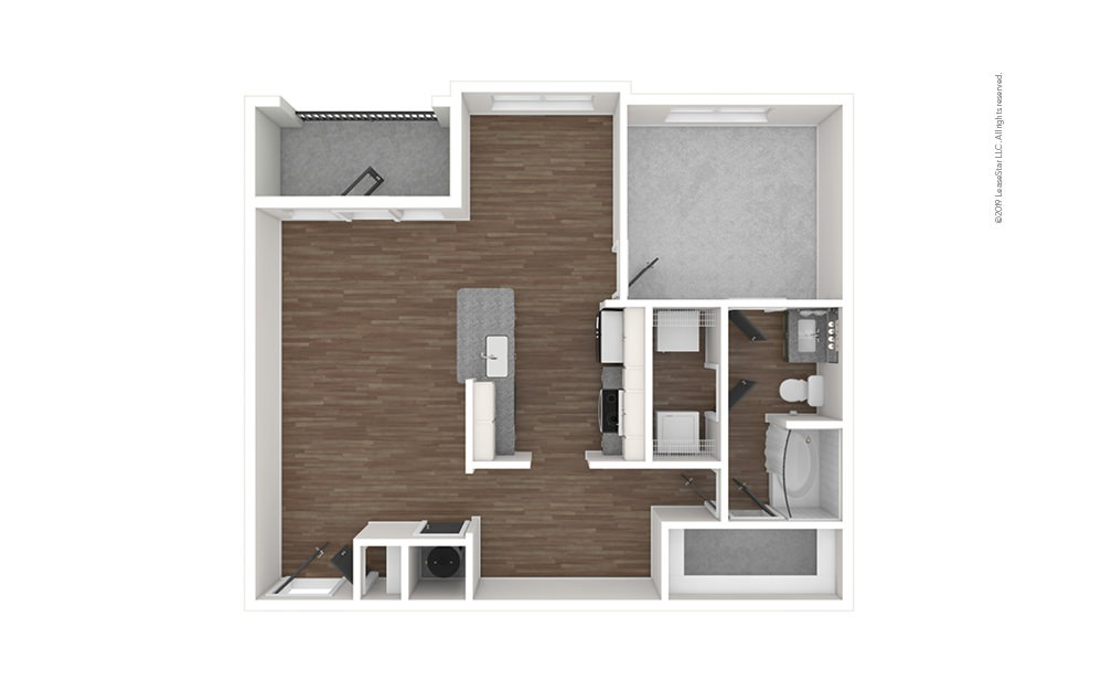 A3 1 bedroom 1 bath 984 square feet (1)