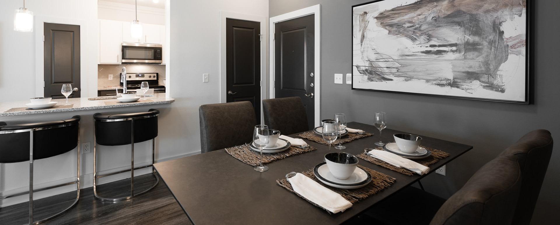 Luxury apartment floor plan at Cortland Presidio West