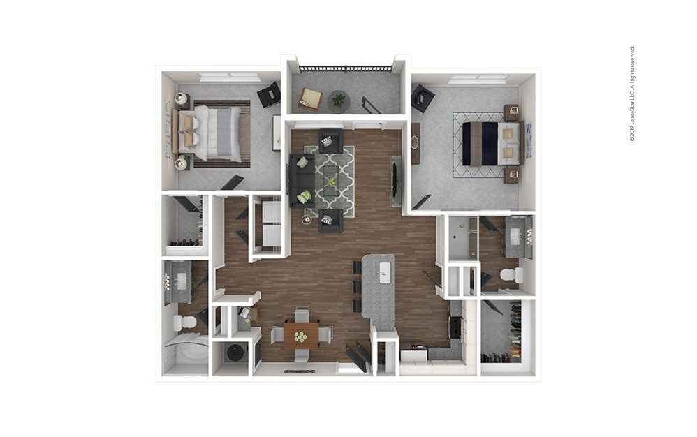 Presidio West 2 bedroom 2 bath 1097 square feet