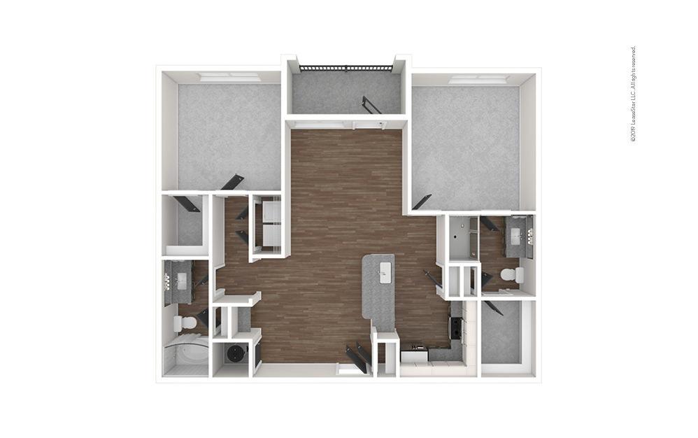 Presidio West 2 bedroom 2 bath 1097 square feet (1)