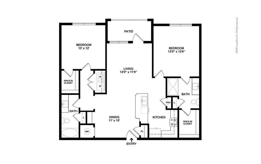 Presidio West 2 bedroom 2 bath 1097 square feet (2)