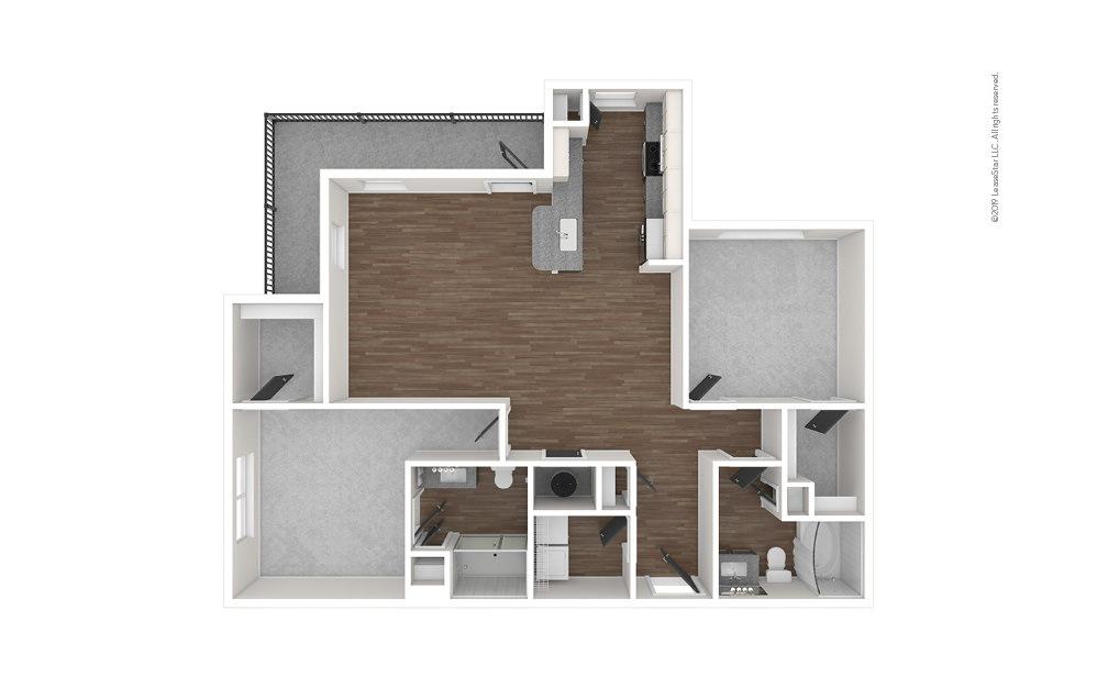 B3 2 bedroom 2 bath 1218 square feet (1)