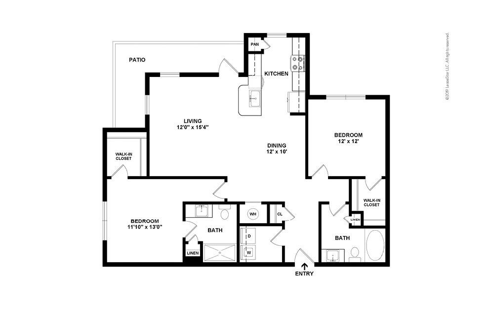 B3 2 bedroom 2 bath 1218 square feet (2)