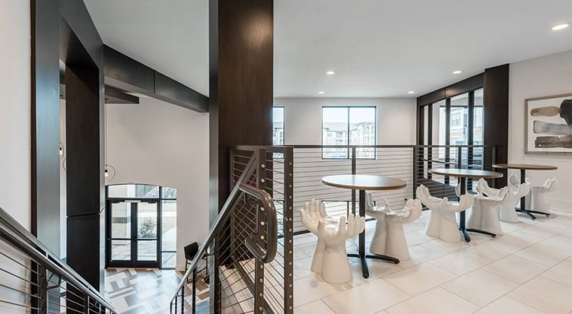 Resident lounge at apartments for rent in North Fort Worth