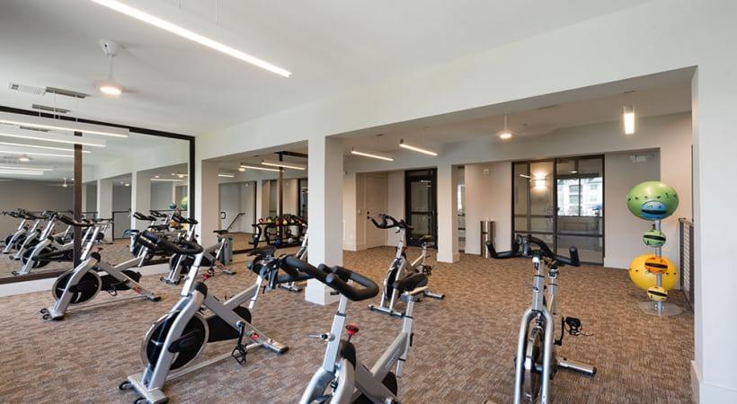 Apartment gym at Cortland Presidio West