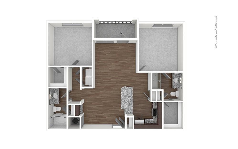 B1 2 bedroom 2 bath 1105 square feet (1)