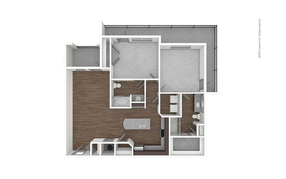 B2 2 bedroom 2 bath 1121 square feet (1)