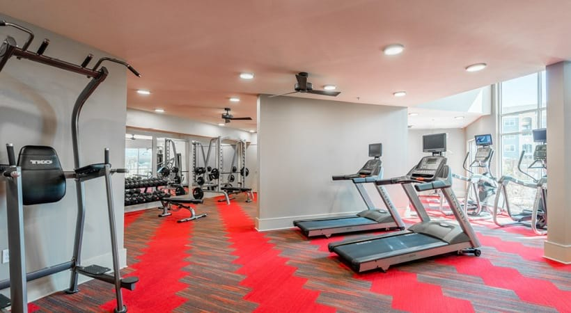 24/7 gym at our modern apartments in McKinney, TX