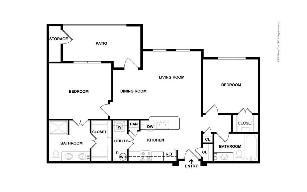 Boulder 2 bedroom 2 bath 1031 square feet (2)