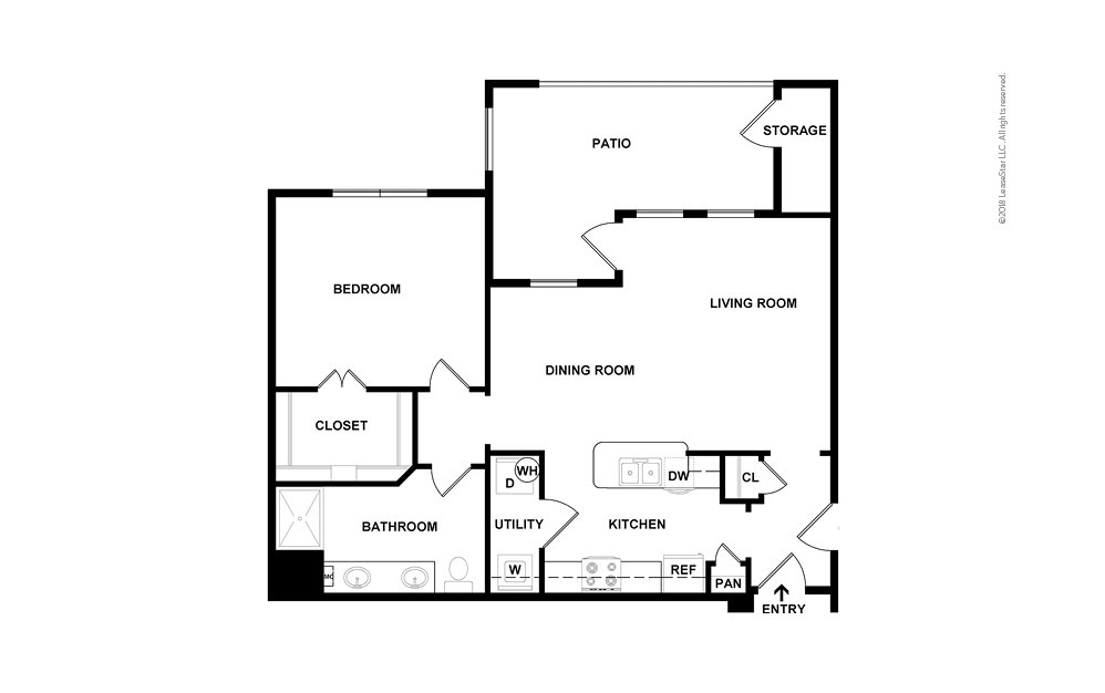 Castle Rock 1 bedroom 1 bath 850 square feet (2)