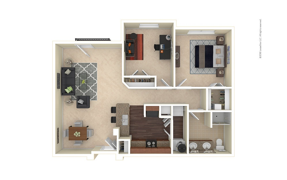 Golden 1 bedroom 1 bath 980 square feet