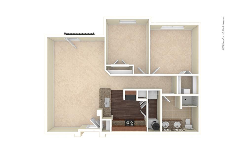 Golden 1 bedroom 1 bath 980 square feet (1)