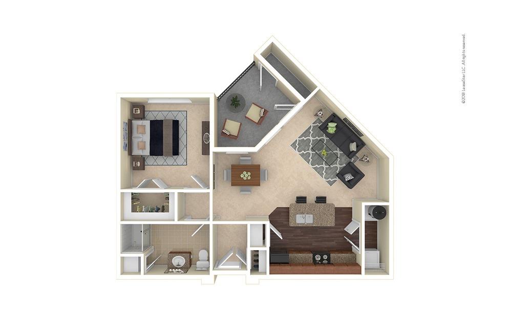 Gunnison 1 bedroom 1 bath 780 square feet