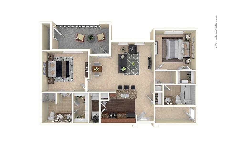 Longmont 2 bedroom 2 bath 1097 square feet