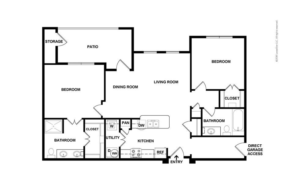 Longmont 2 bedroom 2 bath 1097 square feet (2)