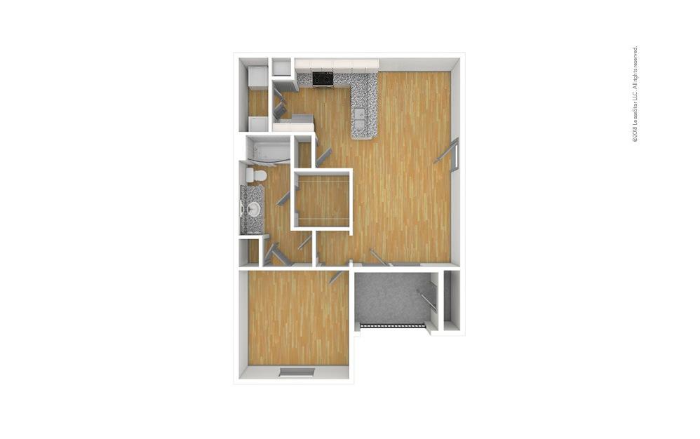 The Cooper 1 bedroom 1 bath 740 square feet (1)