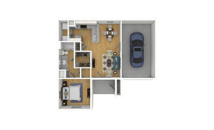 The Cooper 2.0 1 bedroom 1 bath 740 square feet