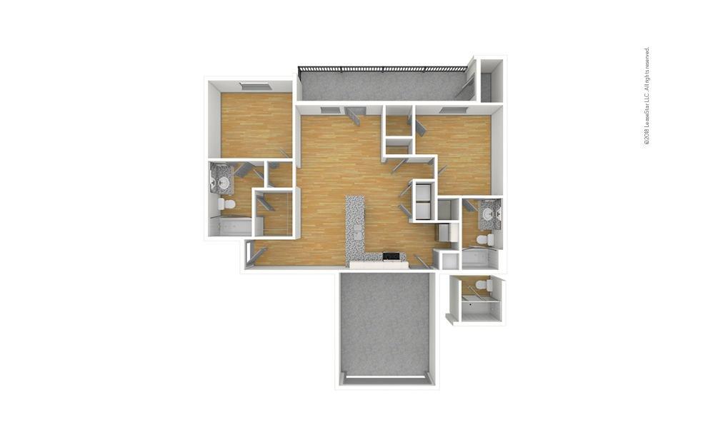 The Pecan 2.0 2 bedroom 2 bath 950 square feet (1)