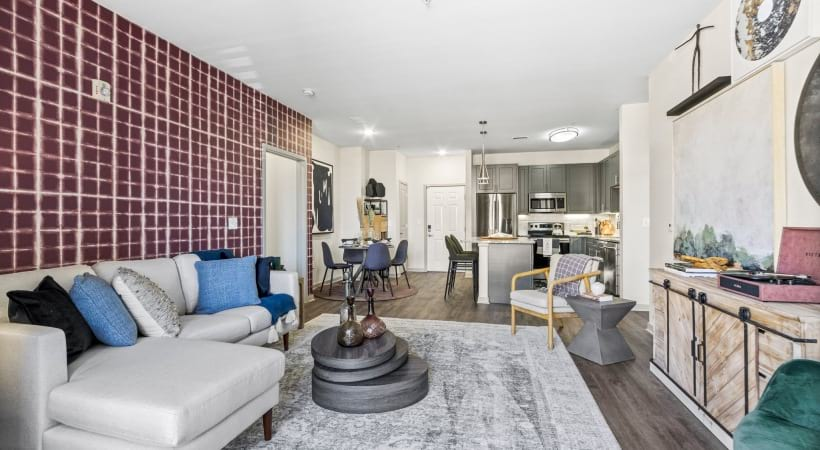 Living Room with Cozy Decor at Our Renovated Apartments Near Broomfield, CO