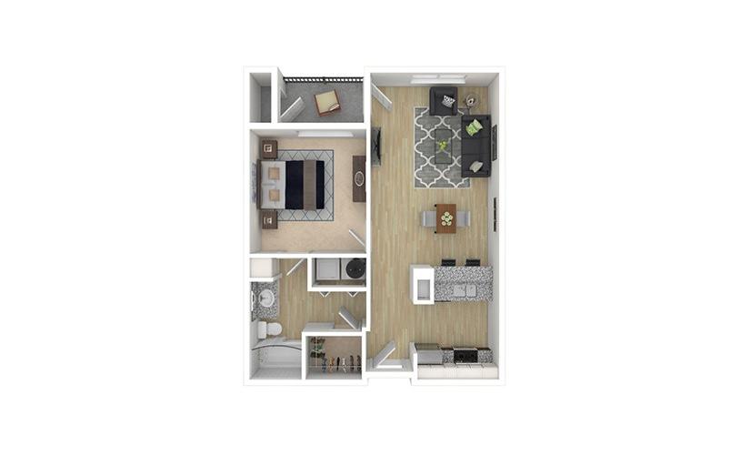 Bordeaux 1 bedroom 1 bath 697 square feet