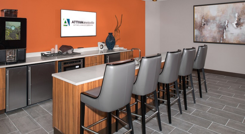 Attiva Lewisville clubhouse with Starbucks® coffee bar