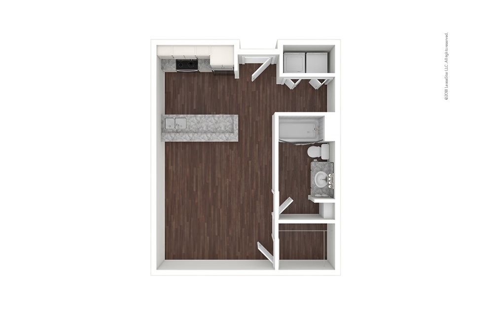 A1 Studio 1 bath 484 square feet (1)