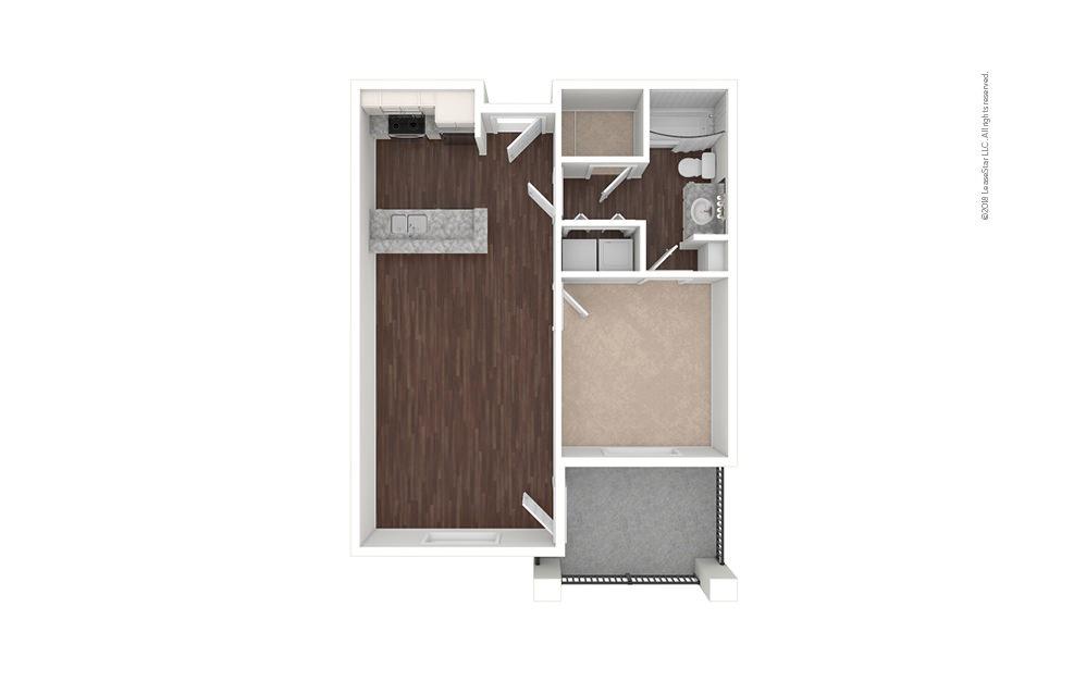 A2 1 bedroom 1 bath 697 square feet (1)