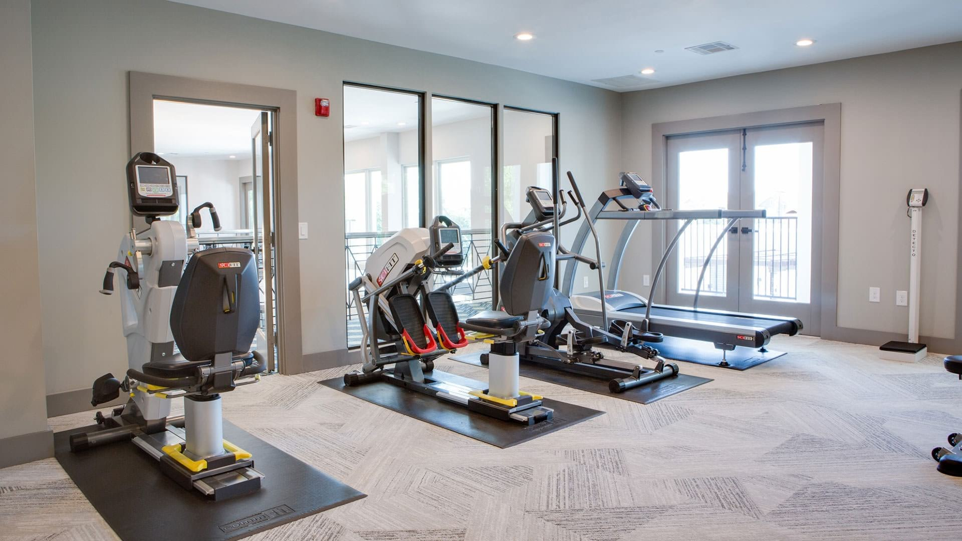 Fitness center at our active adult apartments